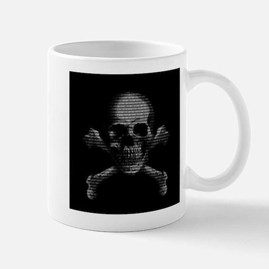 Hacker Skull and Crossbones Mugs