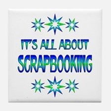 All About Scrapbooking Tile Coaster