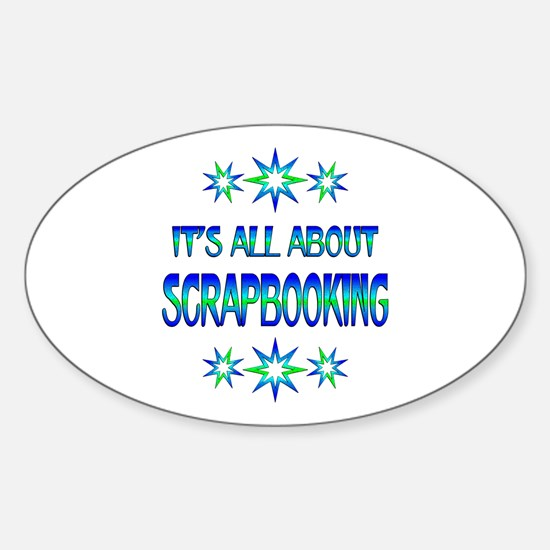 All About Scrapbooking Sticker (Oval)