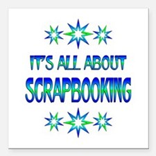 "All About Scrapbooking Square Car Magnet 3"" x 3"""