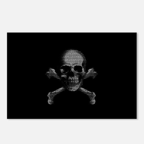 Hacker Skull and Crossbones Postcards (Package of