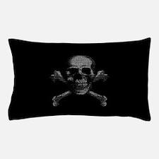 Hacker Skull and Crossbones Pillow Case