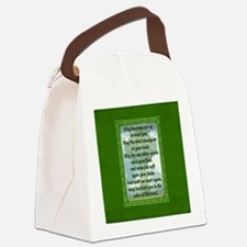 Green Irish Blessing Canvas Lunch Bag