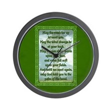 Green Irish Blessing Wall Clock