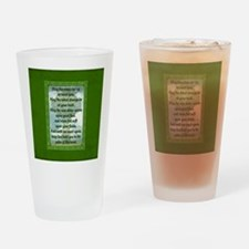 Green Irish Blessing Drinking Glass