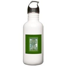 Green Irish Blessing Water Bottle