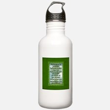 Green Irish Blessing Water Bottle
