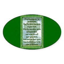 Green Irish Blessing Decal