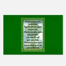 Green Irish Blessing Postcards (Package of 8)