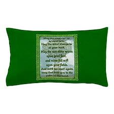 Green Irish Blessing Pillow Case