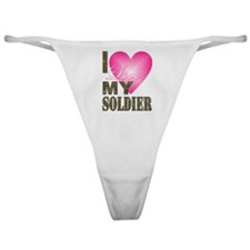 Funny Veteran girlfriend Classic Thong