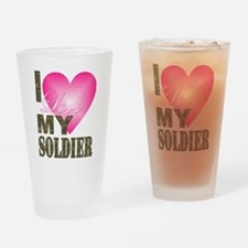 Cute Military valentines Drinking Glass