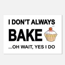 I Don't Always Bake, Oh Postcards (package Of