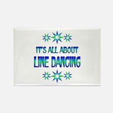 All About Line Dancing Rectangle Magnet