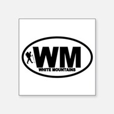 "Cute White mountains Square Sticker 3"" x 3"""