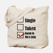 Cute Single guy Tote Bag