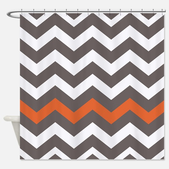gray and orange shower curtain. Gray With A Orange Border Shower Curtain And Curtains  CafePress
