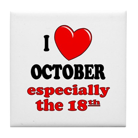 October 18th Tile Coaster