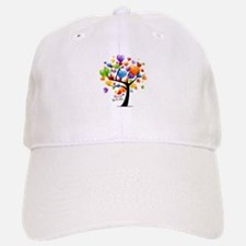 Happy birthday balloons tree Baseball Baseball Cap