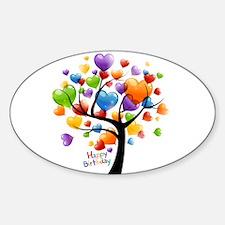 Happy birthday balloons tree Decal