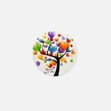 Happy birthday balloons tree Mini Button