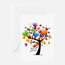 Happy birthday balloons tree Greeting Cards