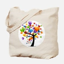 Happy birthday balloons tree Tote Bag