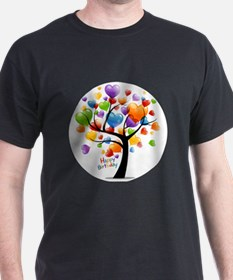 Happy birthday balloons tree T-Shirt