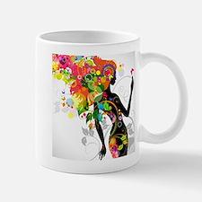 Psychedelic woman Mugs