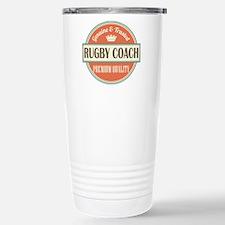 rugby coach vintage log Stainless Steel Travel Mug