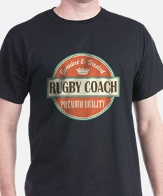 rugby coach vintage logo T-Shirt