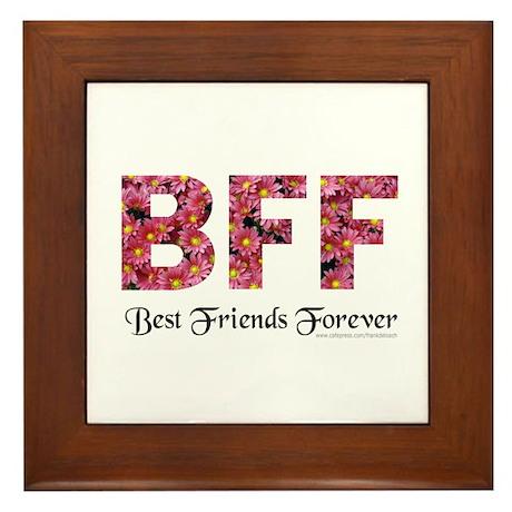 BFF BEST FRIENDS FOREVER Framed Tile