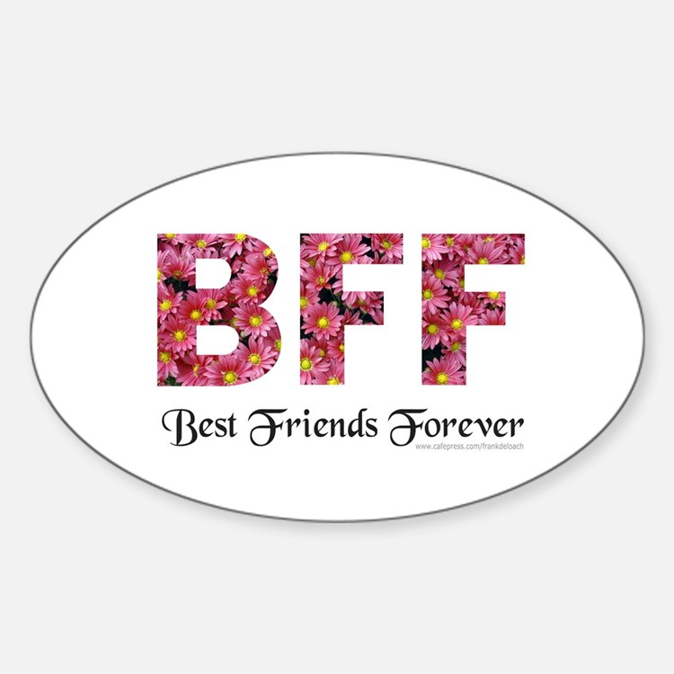BFF BEST FRIENDS FOREVER Oval Decal
