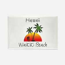 Waikiki Beach Hawaii Magnets