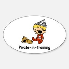Pirate-in-training Oval Decal