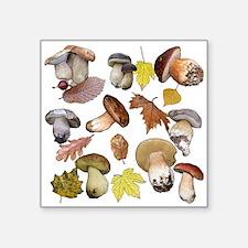 """Unique Mushroom Square Sticker 3"""" x 3"""""""
