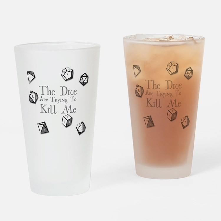Cute Roll dice Drinking Glass