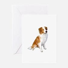 Border Collie (r&w) Greeting Cards (Pk of 20)