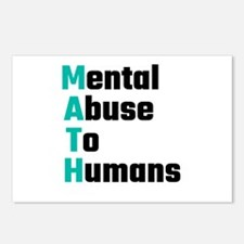 MATH Mental Abuse To Huma Postcards (Package of 8)