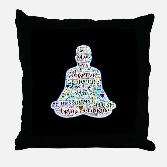 Cute Eastern philosophy Throw Pillow
