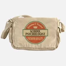 school psychologist vintage logo Messenger Bag