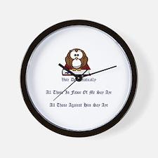 Funny Democracy Wall Clock