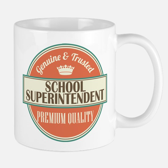 school superintendent vintage logo Mug