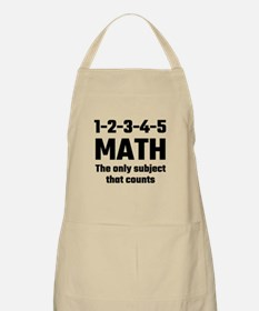 Math The Only Subject That Counts Apron