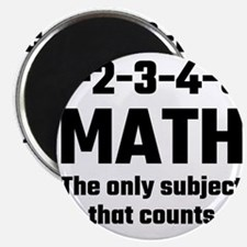 Math The Only Subject That Counts Magnets