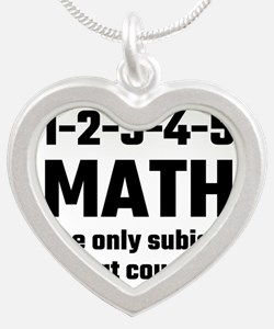 Math The Only Subject That Counts Necklaces