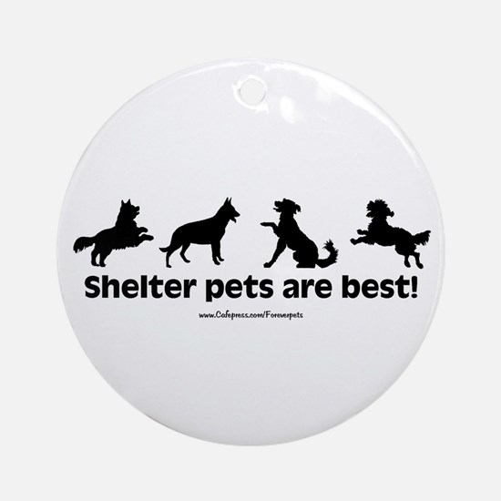 Shelter Dogs Ornament (Round)