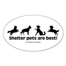 Shelter Dogs Oval Decal