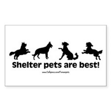 Shelter Dogs Rectangle Decal