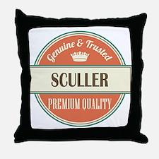 sculler vintage logo Throw Pillow
